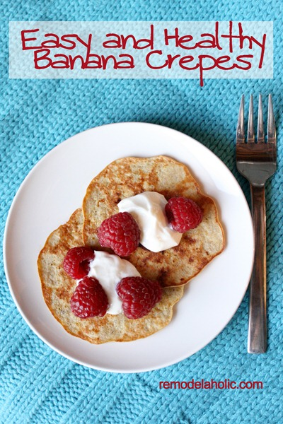 Easy and fast banana crepes
