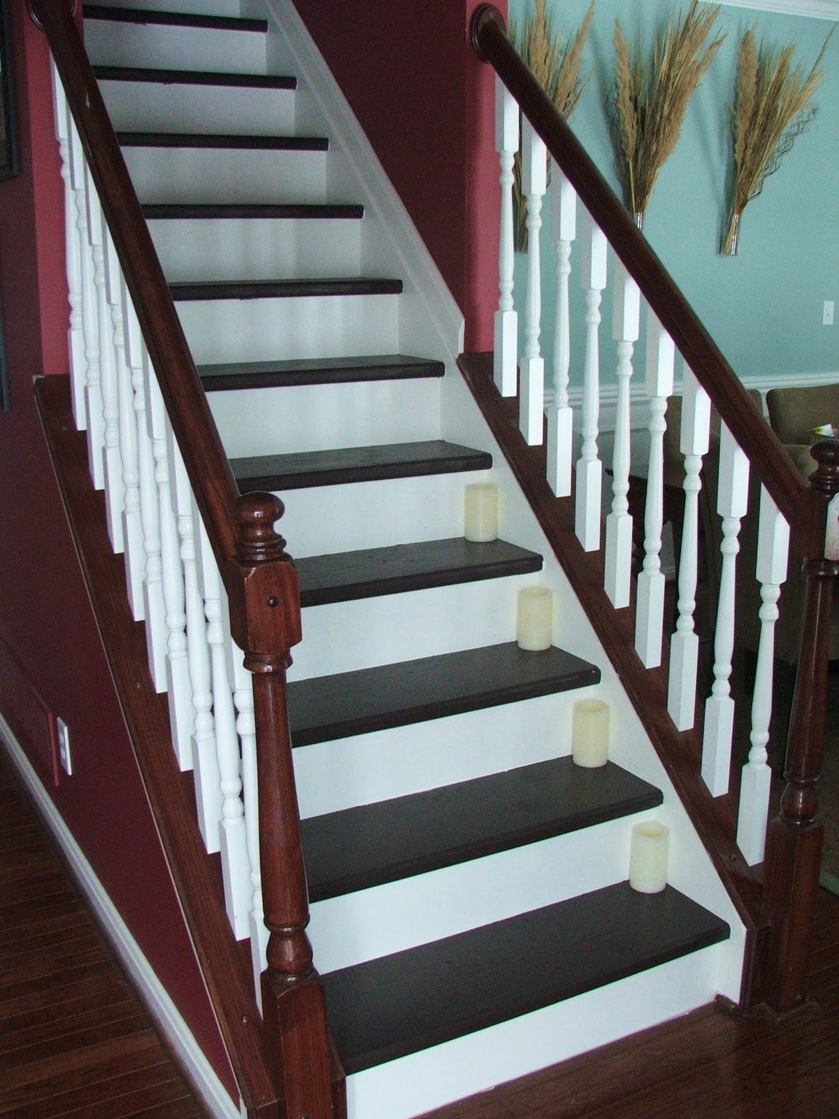 Remodelaholic Top Ten Stair Makeovers And Link Party | Changing Carpeted Stairs To Hardwood