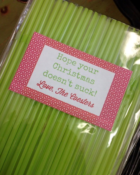 Straws (And A Clever Tag!)