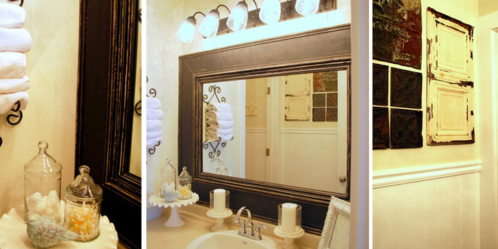 Kids Bathroom W/Framed Builder Mirror