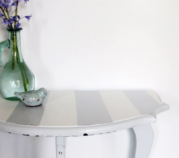 striped console table