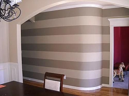 Striped entry wall horizontal wall stripes (4)
