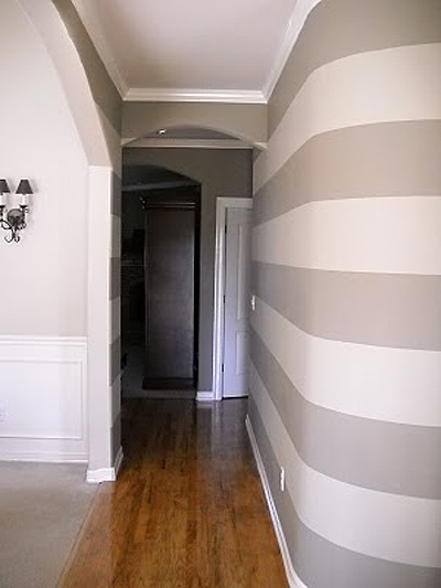 Striped  entry wall horizontal wall stripes  (5)