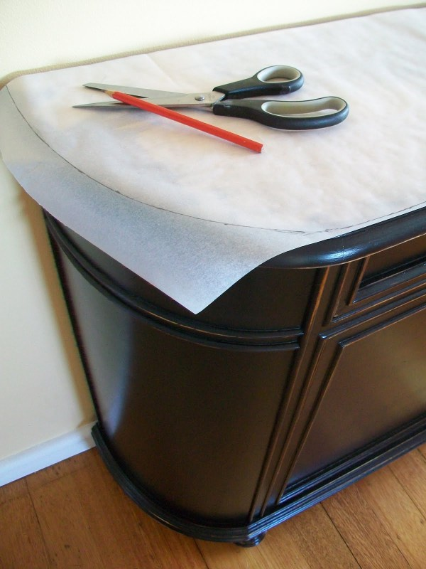 4 DIY Update Vintage Furniture With New Top Surface And Knobs, By The Painted Hive Featured On @Remodelaholic
