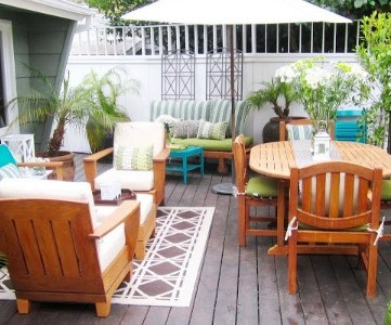 beautiful backyard deck makeover