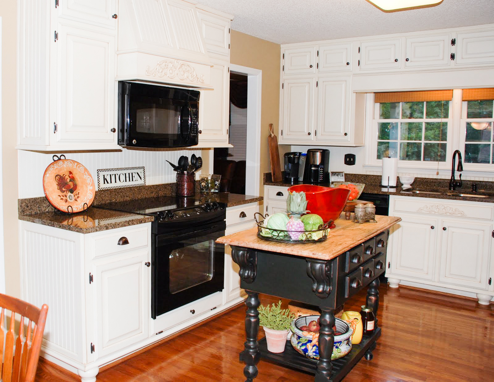 Remodelaholic | From Oak Kitchen Cabinets to Painted White ...