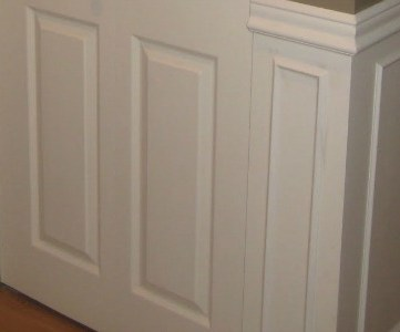 simple wainscoting to update entry feature