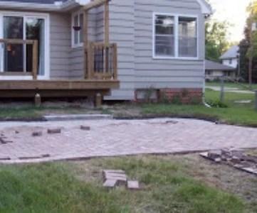 how to install a brick paver patio