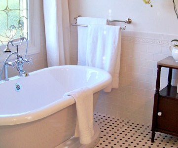 Master Bathroom Remodel With New Tub, Floors, & Vanities