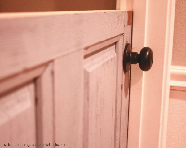 DIY Dutch Door With Rustic Doorknob By Its The Little Things Featured On @Remodelaholic 600x478