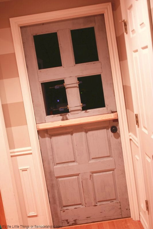 Remake An Old Used Door Into A Dutch Door With Glass Panels By Its The Little Things Featured On @Remodelaholic 533x800