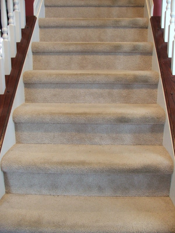 1 DIY Carpet Stairs To Wooden Treads, By Cleverly Inspired, Featured On @Remodelaholic