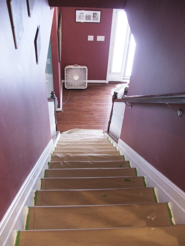 29 Tutorial For Stairway Makeover, Carpet To Wooden Treads, By Cleverly Inspired, Featured On @Remodelaholic