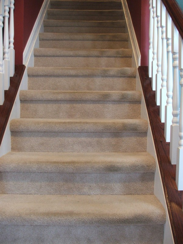 Remodelaholic Under 100 Carpeted Stair To Wooden Tread