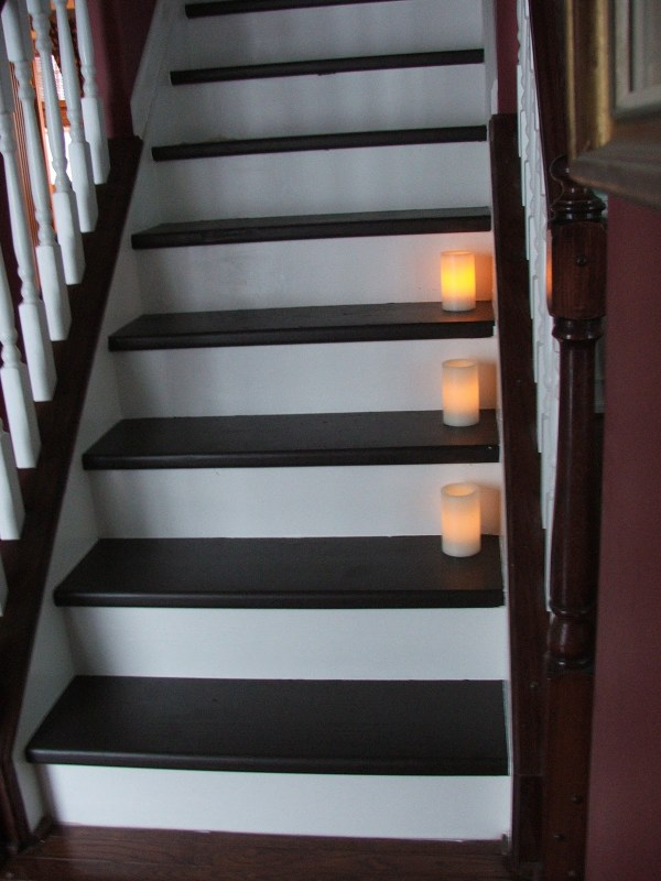 32 DIY Tutorial, Carpeted Stairs To Wooden Treads For Less Than $100, By Cleverly Inspired, Featured On @Remodelaholic