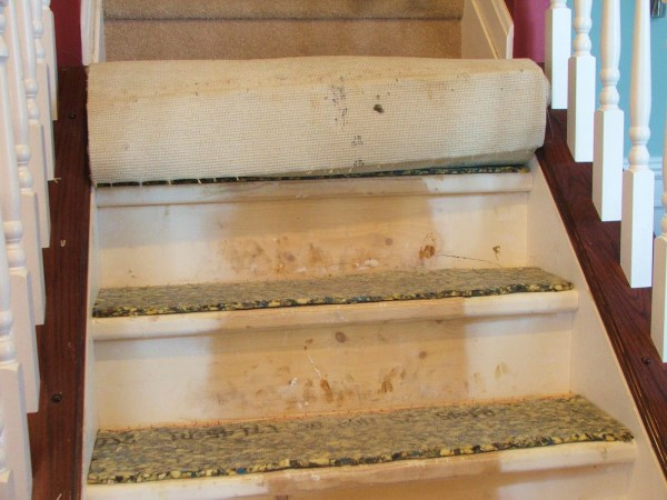 6 DIY Carpet Removal On Stairs, By Cleverly Inspired, Featured On @Remodelaholic