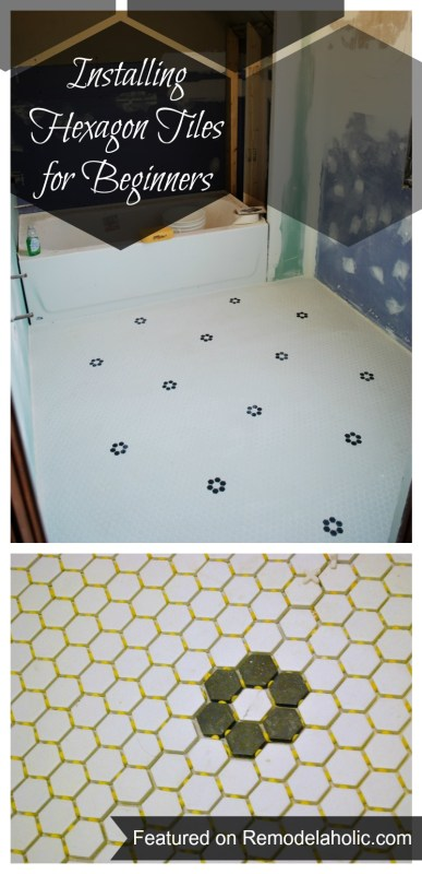 Installing Hexagon Tiles for Beginners #tips #tiling #hexagon