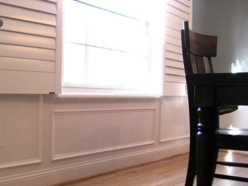 Remodelaholic Faux Technique For Wood Panels On Wainscoting