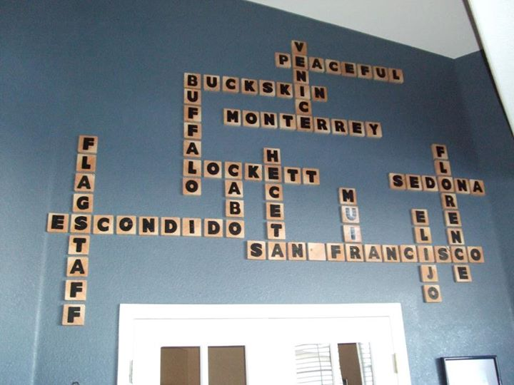 DIY Scrabble Letter Tiles Vacation Geography Wall Art For Large Tall Wall  By Reader Malinda,