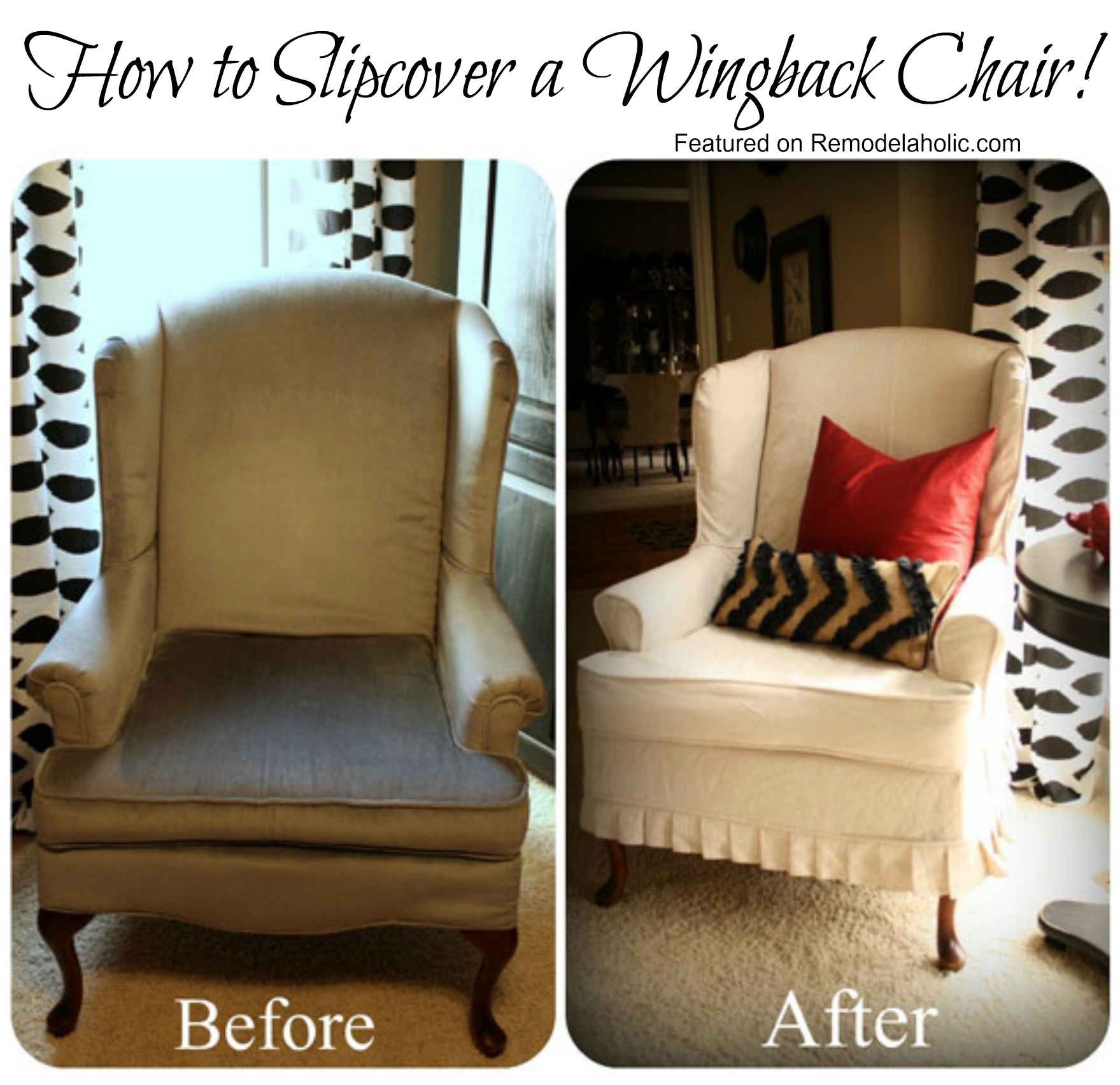 Remodelaholic Slipcovered Wingback Chairthat I want