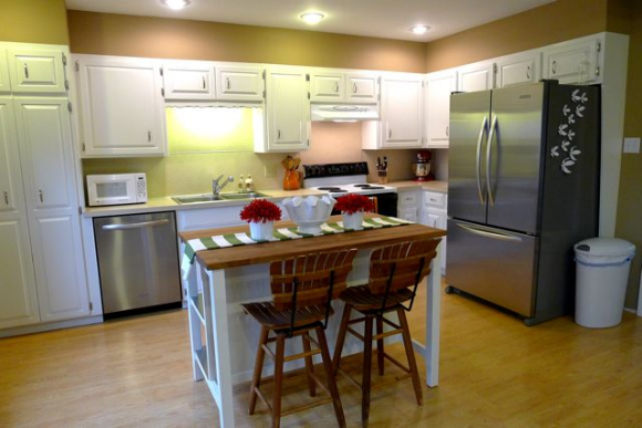 Remodelaholic | New Kitchen Island from IKEA