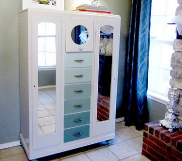 Ombre Armoire Makeover: Before and After
