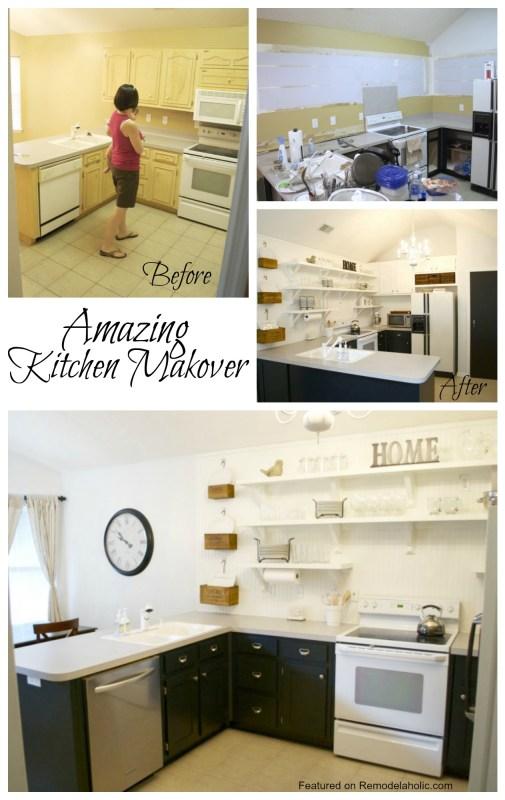 Remodelaholic | Kitchen Remodel, Removing Upper Cabinets ...