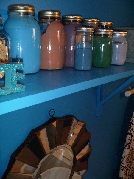 Beautiful Blue Laundry Room Makeover Laundry storage (8)