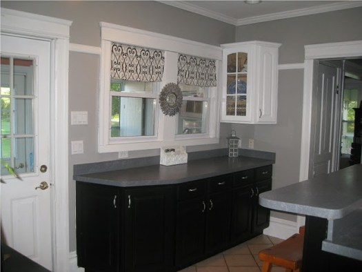 Kitchens Painted Gray Remodelaholic A Few Updates Make All The Difference Kitchen Remodel