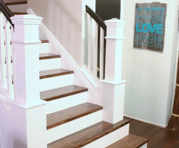How We Built Our Custom Newel Posts; Tutorial