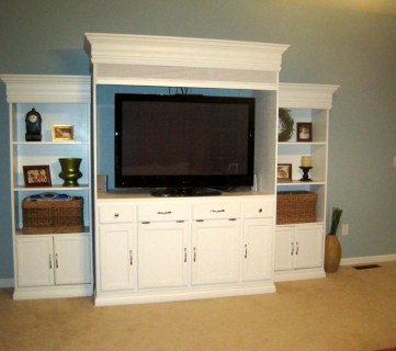 From Bathroom Vanity And Book Shelves To Entertainment Center