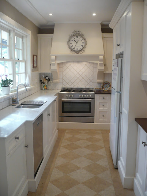 Remodelaholic | Classically Beautiful Galley Kitchen Before and After