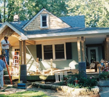 Home Exterior Facelift; Adding a Porch!