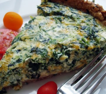 Spinach Quiche and Recipe Link Up Party!