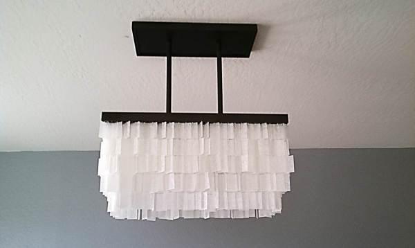 diy faux capiz chandelier tutorial