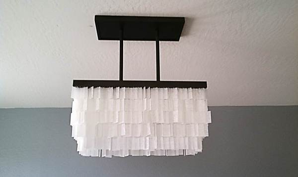 diy faux capiz chandelier tutorial