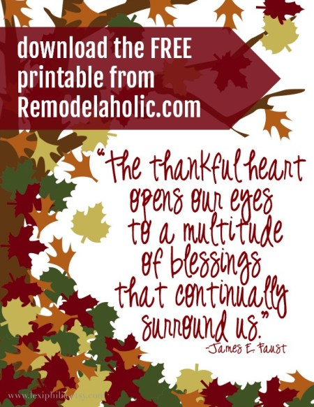 Free Thankful Printable @Remodelaholic sm