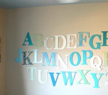 Learning Her Letters; Alphabet Art