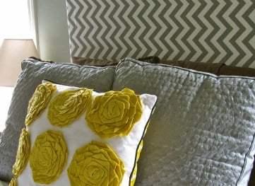 Chevron Fabric Headboard – Beautiful Master Bedroom