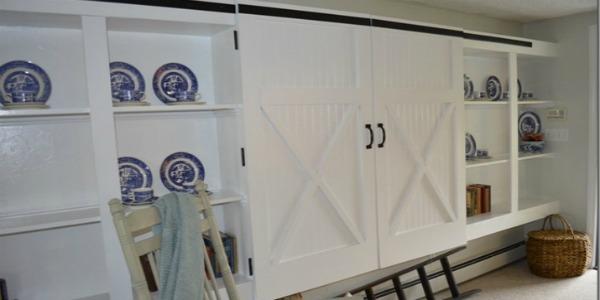 Remodelaholic Barn Door Cabinet