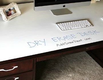 Dry Erase Painted Desk