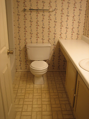 2 Bathroom remodel, before, by Elizabeth and Co featured on @Remodelaholic