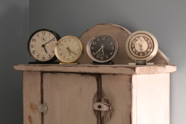 31 Clever and useful, vintage clocks in bathroom remodel, by Elizabeth and Co featured on @Remodelaholic