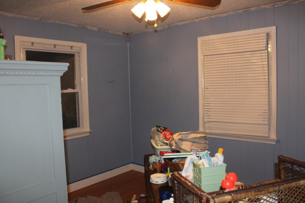 DIY Ceiling before by Maple Leaves and Sycamore Trees on Remodelaholic