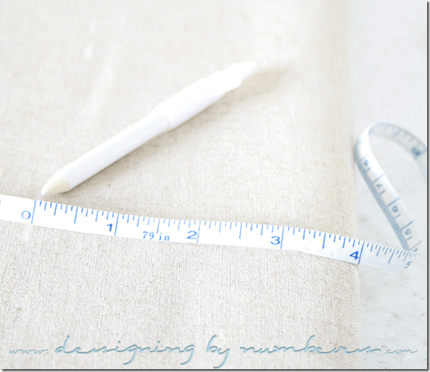 Measuring and marking the fabric