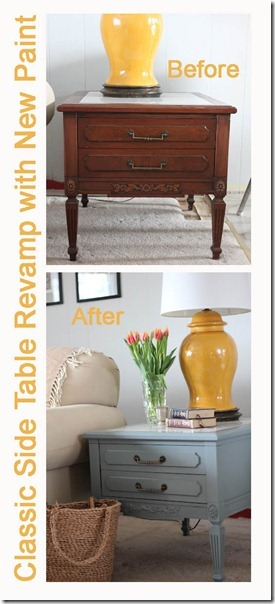 sidetable makeover before and after