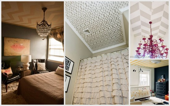 1 Cool patterns for a painted ceiling, by The Sweetest Digs featured on @Remodelaholic