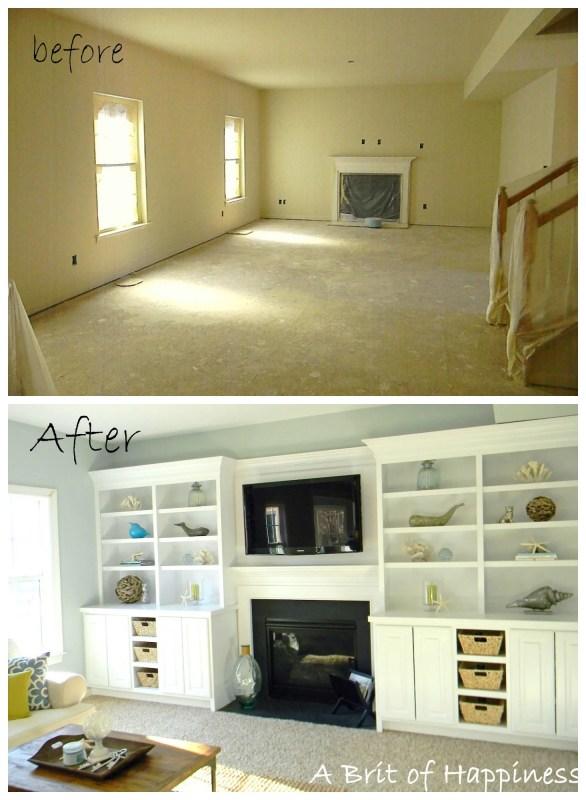 Beach Costal Family Room Makeover