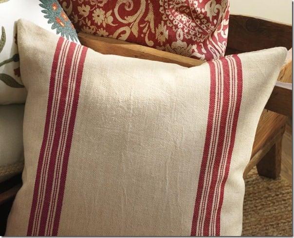 Pottery Barn Grain Sack Pillow Case