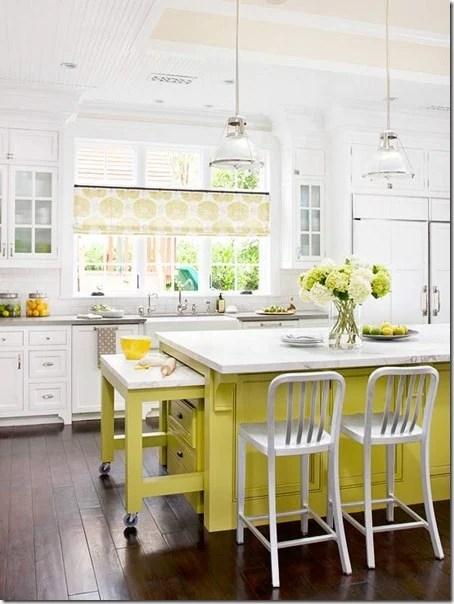beautiful-yellow-kitchen-island-from-BHG